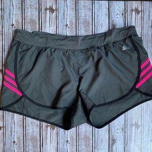 Adidas Gray Pink Athletic Stripe Shorts Women's XL
